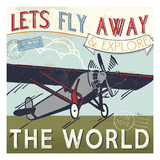 Let's Travel II Giclee Print by Pela Studio