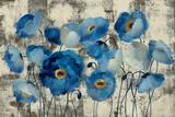 Aquamarine Floral Gicleetryck av Silvia Vassileva