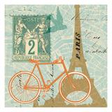 Postcard from Paris Collage Premium Giclee Print by Sue Schlabach