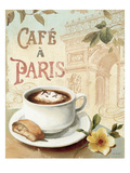 Cafe in Europe I Premium Giclée-tryk af Lisa Audit