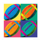 Ball Four-Football Giclee Print by Wild Apple Portfolio