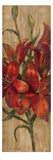 Vivid Red Lily on Gold Giclee Print by Silvia Vassileva
