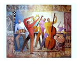 Orchestre Premium Giclee Print by Roger Burgi