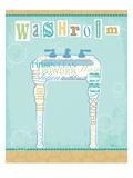 Bathroom Words Sink II Premium Giclee Print by  Pela