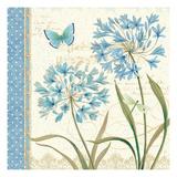 Blue Melody III Premium Giclee Print by Daphne Brissonnet