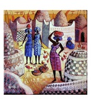 Village Africain Premium Giclee Print by Roger Burgi