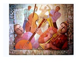 Jazz Attitudes Premium Giclee Print by Roger Burgi