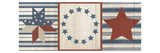 Americana Stars and Stripes I Premium Giclee Print by Sarah Adams