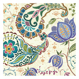 Peacock Fantasy V Premium Giclee Print by Daphne Brissonnet