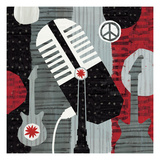 Rock &#39;n Roll Mic Giclee Print by Michael Mullan