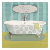 Polka Tub II Premium Giclee Print by Sarah Adams