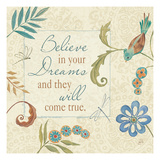 Pop Garden Quote II Giclee Print by Daphne Brissonnet