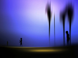 Dark Purple Photographic Print by Josh Adamski