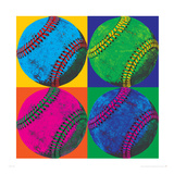 Balll Four-Baseball Premium Giclée-tryk af Hugo Wild