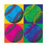 Balll Four-Baseball Premium Giclee Print by Hugo Wild