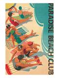 Paradise Beach Club Premium gicléedruk van Hugo Wild