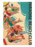 Paradise Beach Club Premium Giclee Print by Hugo Wild