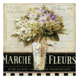 Marche de  Fleurs Giclee Print by Lisa Audit