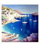 Paysage Grec Premium Giclee Print by Roger Burgi