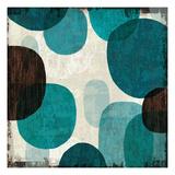Blue Drips I Giclée-Premiumdruck von Michael Mullan