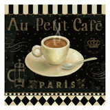 Cafe Parisien II Premium Giclee Print by Daphne Brissonnet