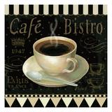 Cafe Parisien IV Premium Giclee Print by Daphne Brissonnet