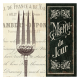 French Menu II Premium Giclee Print by  Pela