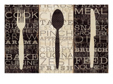 Kitchen Words Trio Premium Giclee Print by  Pela