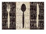 Vocabolario della cucina, trittico Stampa giclée premium di  Pela
