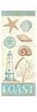 Pastel Coast Panel I Premium Giclee Print by Daphne Brissonnet