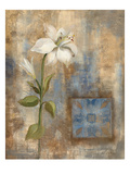 Lily and Tile Giclee Print by Silvia Vassileva