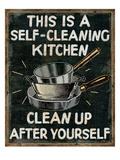 Self Cleaning Kitchen Giclée-Premiumdruck von  Pela