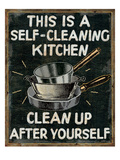 Self Cleaning Kitchen Premium Giclee Print by  Pela