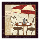 Petit Cafe I with Border Poster by Veronique Charron