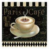 Cafe Parisien III Premium Giclee Print by Daphne Brissonnet
