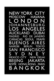 World Cities Bus Roll (Blind) Premium Giclee Print by Michael Tompsett