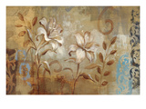 Flowers on Silver I Giclee Print by Silvia Vassileva