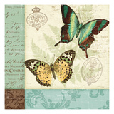 Butterfly Patchwork I Premium Giclee Print by  Pela
