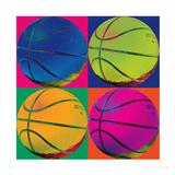 Quattro palloni da pallacanestro Stampa giclée premium di Hugo Wild