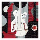Rock 'n Roll Guitars Premium Giclee Print by Michael Mullan