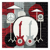 Rock 'n Roll Drums Premium Giclee Print by Michael Mullan