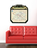 Plan Metro Créme - Large Wall Decal
