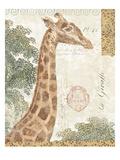 La Giraffe Giclee Print by Wild Apple Portfolio