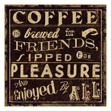 Coffee Quote II Giclee Print by Pela Studio