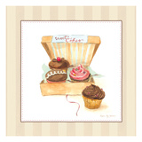 Cupcake Quartet Giclee Print by Susan Eby Glass