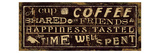 Coffee Quote III Giclee Print by Pela Studio