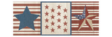 Americana Stars and Stripes II Premium Giclee Print by Sarah Adams