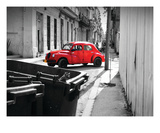 La Coccinelle Rouge Premium Giclee Print by Sebastien Nouet