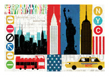New York City Experience Giclee Print by Mo Mullan