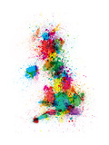 Great Britain UK Map Paint Splashes Premium Giclee Print by Michael Tompsett